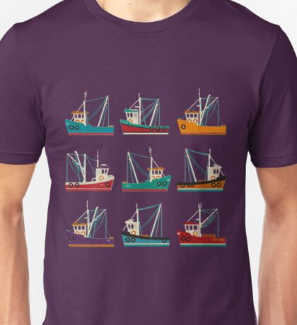 Fishing Trawlers Unisex T-Shirt