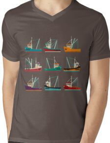 Fishing Trawlers Mens V-Neck T-Shirt