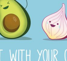Rock out with your guac out Sticker