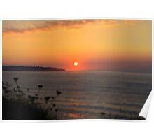 Sun is shinig at the beach Poster