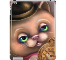 Steampunk Cat in a Bowler Hat - Goth Kitty iPad Case/Skin