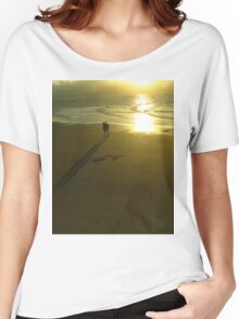 Love on the beach at sunset Women's Relaxed Fit T-Shirt