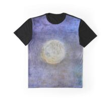 Full moon, azure sky Graphic T-Shirt