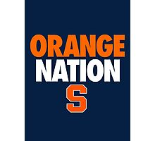 ORANGE NATION Photographic Print