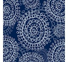 floral doodle pattern Photographic Print