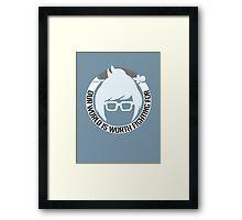 Meightin Framed Print