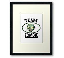 Team Zombie Framed Print