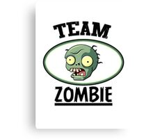 Team Zombie Canvas Print