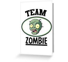 Team Zombie Greeting Card