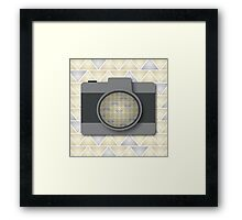 Camera with Triangle Pattern Framed Print