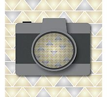 Camera with Triangle Pattern Photographic Print