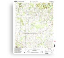 USGS TOPO Map Alabama AL Danville 303644 2000 24000 Canvas Print