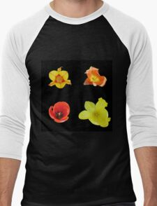 Four tulips Men's Baseball ¾ T-Shirt