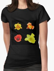 Four tulips Womens Fitted T-Shirt
