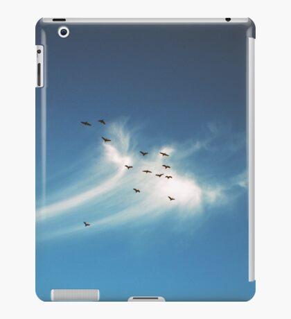 birds flying and cloud iPad Case/Skin