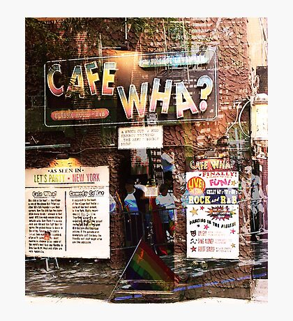 Cafe Wha, NYC, NY Photographic Print