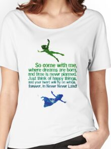 Come away to neverland Women's Relaxed Fit T-Shirt