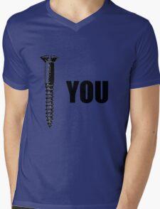 Screw You Funny T-shirt Mens V-Neck T-Shirt