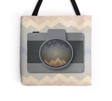 Camera with Rainbow Brick Pattern Tote Bag