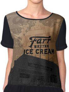 Ice Cream Shop Chiffon Top