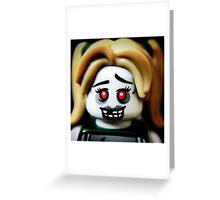 The Zombie Cheerleader minifigure Greeting Card