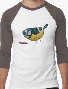 Blue Tit Men's Baseball ¾ T-Shirt