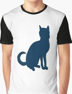 Silhouette of cat Graphic T-Shirt