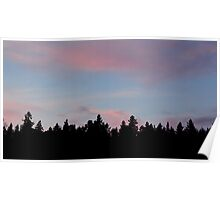 Silhouette of the Northern Nature Poster