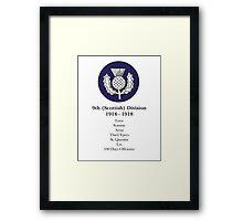 9th (Scottish) Division Framed Print