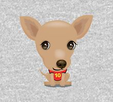 Chihuahua Cartoon dog head  Unisex T-Shirt