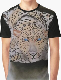 BEAUTIFUL LEOPARD WITH GLOWING BLUE EYES/PASTEL WORK Graphic T-Shirt