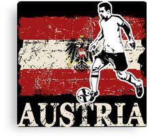 Soccer - Fußball - Austria Flag Canvas Print