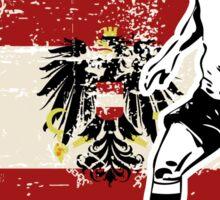 Soccer - Fußball - Austria Flag Sticker
