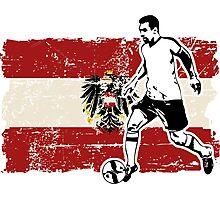 Soccer - Fußball - Austria Flag Photographic Print