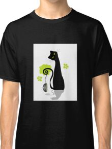 Funny black cat design Classic T-Shirt