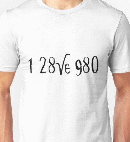 i love you 128√e980 Unisex T-Shirt