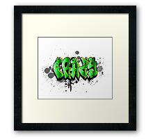 Just a crazy tag Framed Print