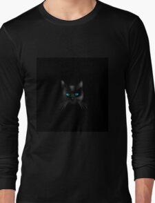 Black cat blue eye Long Sleeve T-Shirt