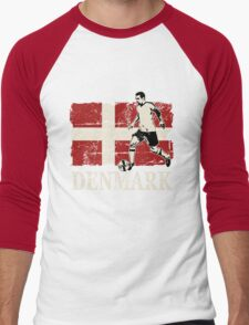 Soccer - Fußball - Denmark Flag Men's Baseball ¾ T-Shirt