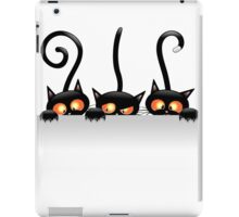Amusing black cat iPad Case/Skin