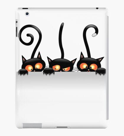 Amusing black cat iPad Case/Skin