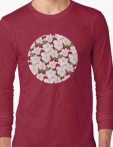 Magnolia Garden (pink) Long Sleeve T-Shirt