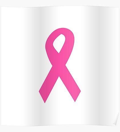 Dark Pink Ribbon Poster