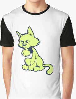Lime cat Graphic T-Shirt