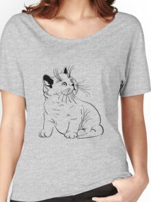 Cat pencil drawing Women's Relaxed Fit T-Shirt