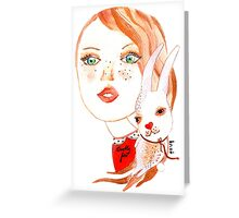 Beauty without cruelty Greeting Card