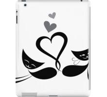 Cats in love design iPad Case/Skin