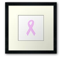 Light Pink Ribbon Framed Print