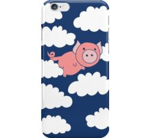 Flying Pig when Pigs fly iPhone Case/Skin