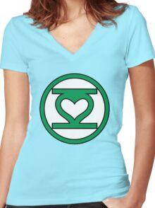 Lantern Love Women's Fitted V-Neck T-Shirt